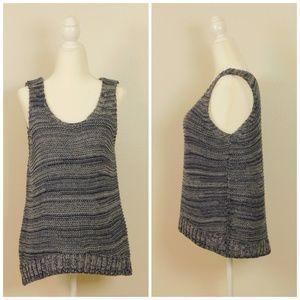 Massimo Dutti Knit Top Sleeveless Navy Size M Euc